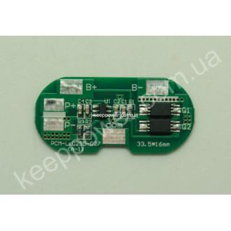 Плата защиты PCM-Li02S05-027 (для 2-х li-ion)