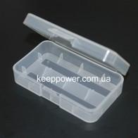 Пластиковый бокс для 2x18650/4x16340