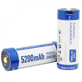 KEEPPOWER 26650 5200 mAh с micro USB