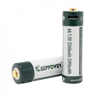 KEEPPOWER 14500 1,5В 2260 mAh с micro USB
