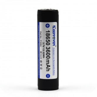 KEEPPOWER 18650 3600 mAh (внутри Panasonic)