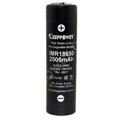KEEPPOWER IMR18650 2500 mAh (button top)