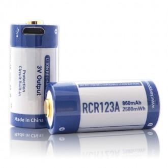KEEPPOWER RCR123A 3,0В 860 mAh с micro USB