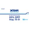 15-31 августа действует скидка 20% на зарядные устройства Xtar