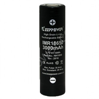 KEEPPOWER IMR18650 3000 mAh